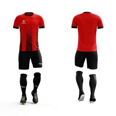 Strój piłkarskie PEHA Bravo czerwono-czarny
