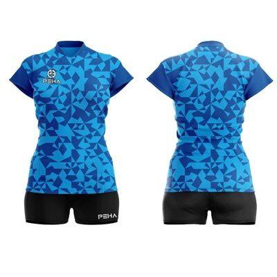 Strój siatkarski damski PEHA Combat niebieski