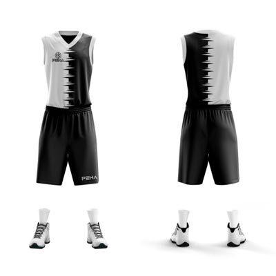 Strój koszykarski PEHA Combi biało-czarny