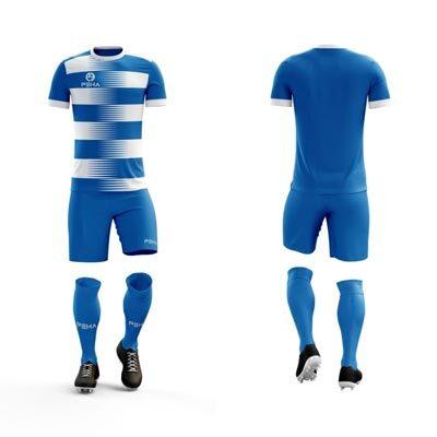 Strój piłkarski PEHA Ezro niebiesko-biały